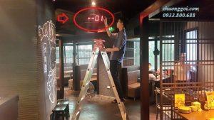 hình ảnh lắp đặt chuông gọi tại Daruma Lương Yên